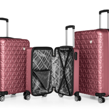 ABS unbreakable triple travel suitcase set-luggage