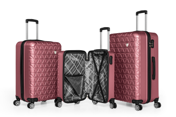 ABS unbreakable triple travel suitcase set-luggage bag business wheel silent luggage