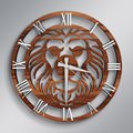 На заказ с изображением Льва в стиле персонажей комиксов дизайн деревянные настенные часы-параметры модели: Рост-A2