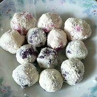 山药火龙果雪花球,紫薯雪花球的做法图解8