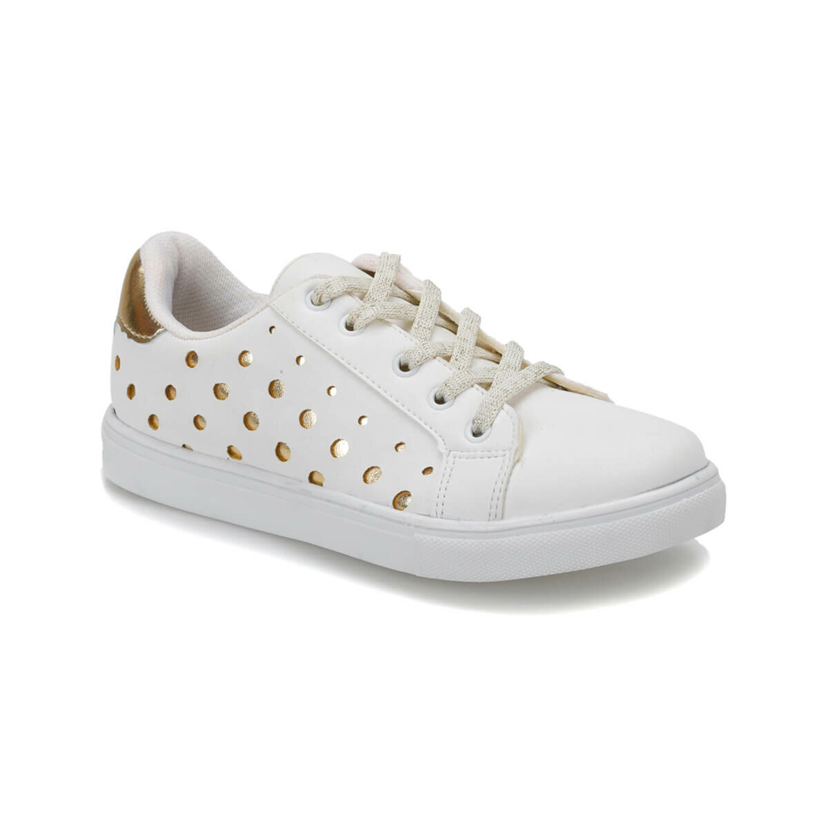 FLO POINT White Female Child Sneaker Shoes I-Cool