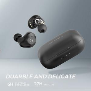 Image 5 - SOUNDPEATS سماعات لاسلكية ديناميكية ثنائية، بلوتوث 5.0, APTX صوت CVC إلغاء الضجيج، تشغيل 27 ساعة