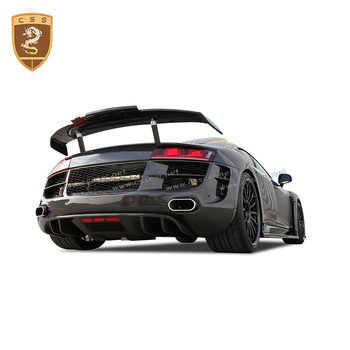 Real Carbon Fiber Body Kit For R8 Rear Wing Spoiler Carbon Parts Carbon Auto Accessories Car Modification Car Styling