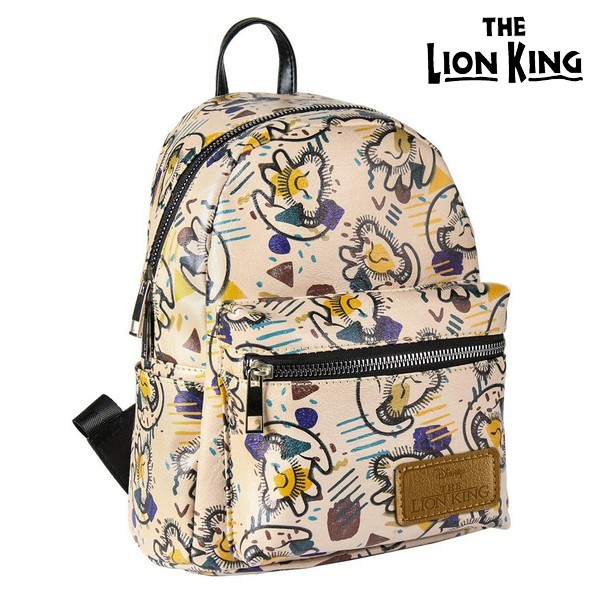 Casual Backpack The Lion King 72816 Beige