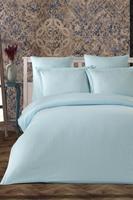 Striped Satin Bedding Set Solid Color Luxury Satin Bed Linen Set 6 pcs Duvet Cover Set Pillow Case Cover