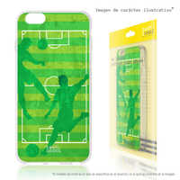 FunnyTech®Stand case for Huawei Y6 Silicone 2017 L Sports soccer field