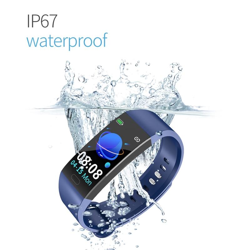 Ufaff5512b61b476b99b3db93c17f144fH Smart Bracelet Band Measuring Pressure Clock Fitness Bracelet Heart Rate Activity Tracker bracelet smart Wristband Waterproof