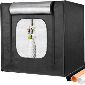 Neewer oświetlenie do fotografii skrzynka narzędziowa fotografia studyjna oświetlenie namiot strzelecki z 2 Panel świetlny LED (100 sztuk kulek LED) 3 kolorowe tła tanie i dobre opinie CN (pochodzenie) 20x20x20 inches 50x50x50 cm 3 06kg 6 8lbs Oxford Fabric Cloth A3 Metal Tube Frame PC plastic connector