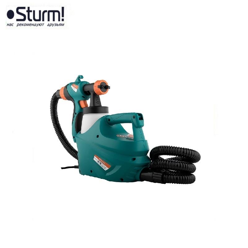 SG9645B Sturm airbrush, 450 W, 320 ml / min, belt tank, HVLP, WITH TURBINE Painting gun Paint application Paint sprays sturm sg9645b