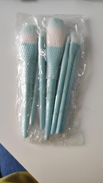 8PCS Makeup Brushes Sets Powder Foundation Blusher Eyeshadow Brush Candy Cosmetic Colorful Make Up NO MSQ LOGO With Bag reviews №2 156513