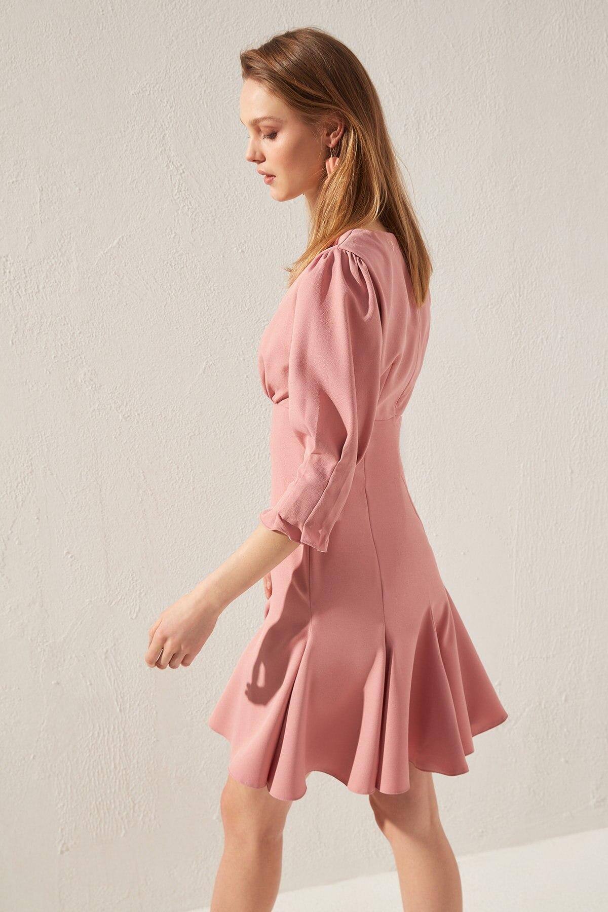 Vestido básico Trendyol TWOSS20EL0356 - 3