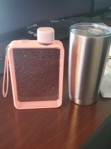 HELLOYOUNG A5 Notebook Paper Tritan Plastic Material Water Bottle Handy Portable Flat Kettle Sport Drinking Water Bottle 380ml|Water Bottles| |  - AliExpress