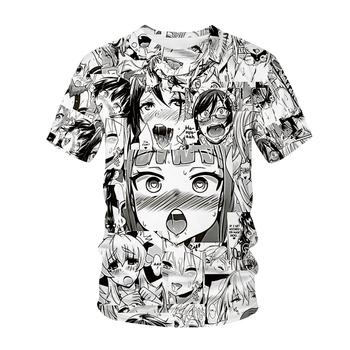 Nowa koszulka Ahegao Anime 3D drukuj mężczyźni kobiety Streetwear Lolita Anime O-Neck Hiphop T koszula Harajuku Casual topy seksowna dziewczyna ubrania tanie i dobre opinie CN (pochodzenie) Lato COTTON POLIESTER NONE krótkie REGULAR Dobrze pasuje do rozmiaru wybierz swój normalny rozmiar Sukno