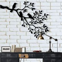 Metal Wall Art, Metal Birds Art, Metal Wall Decor, Birds on Branch, Birds Sculpture, Unusual Gift, Housewarming Gift