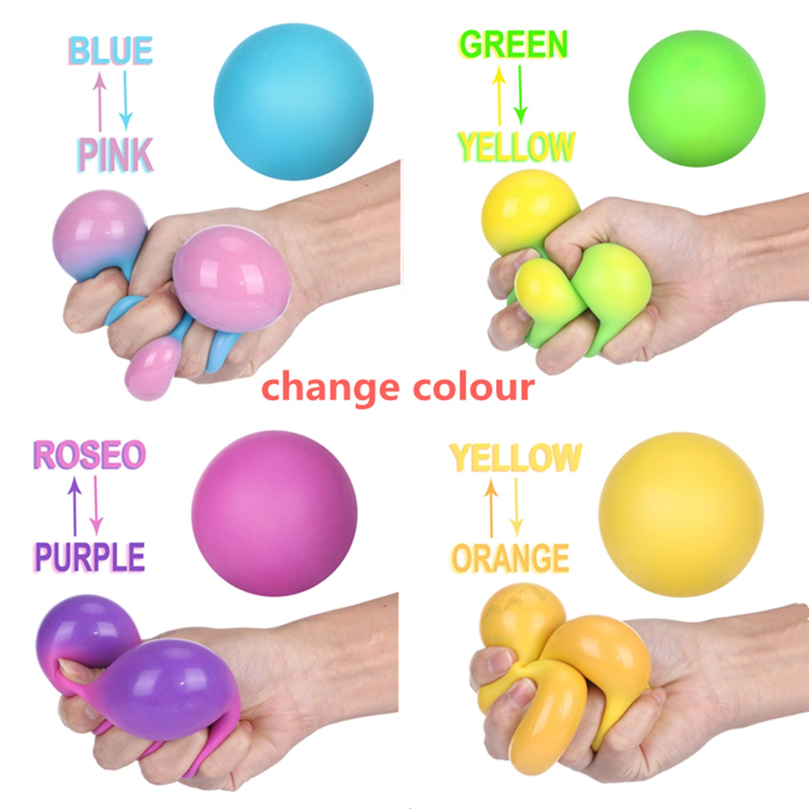 Decompression Toy Fidget-Toys Vent-Ball Colorful Adult Children 3pc img4