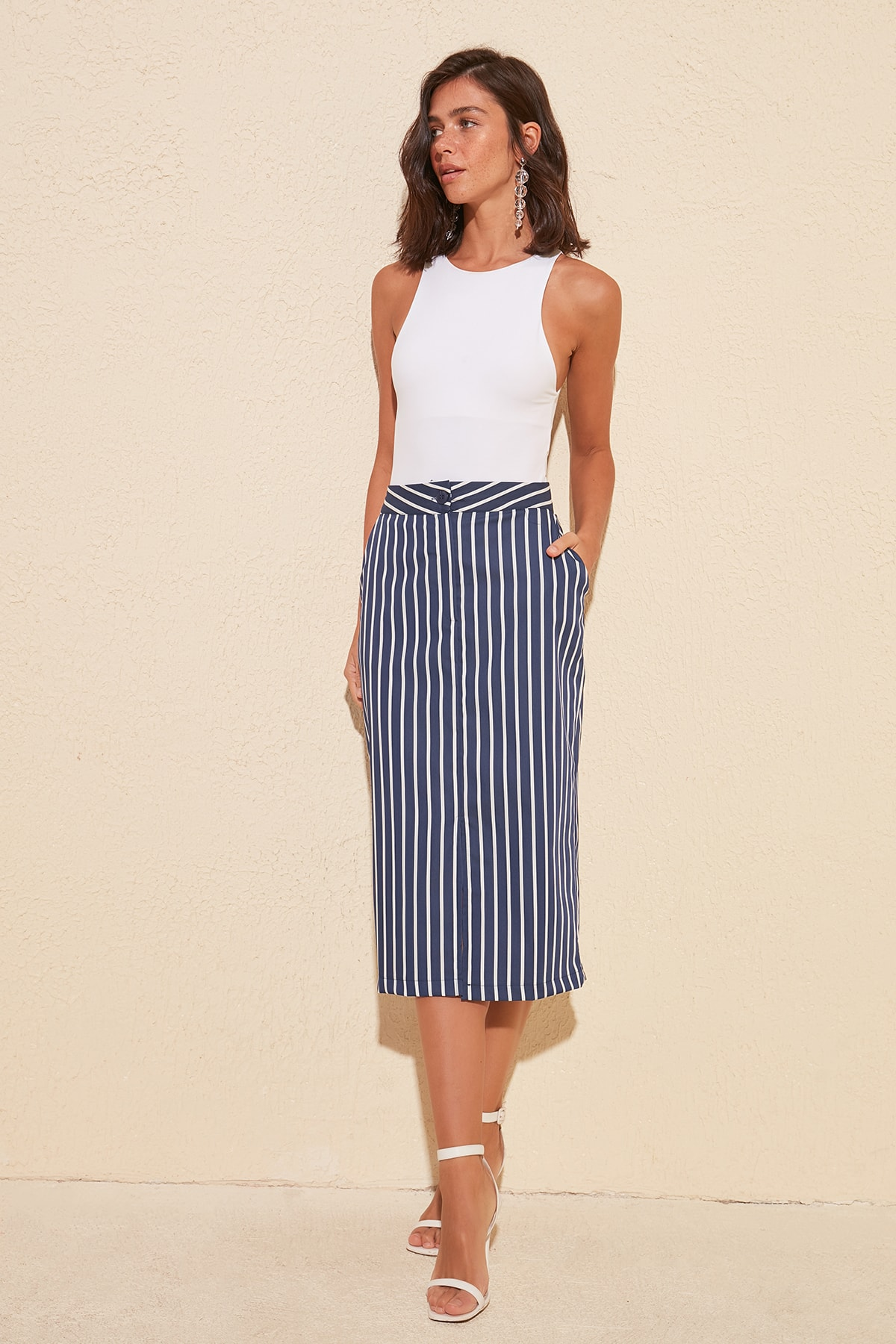 Trendyol Striped Skirt TWOSS20ET0087