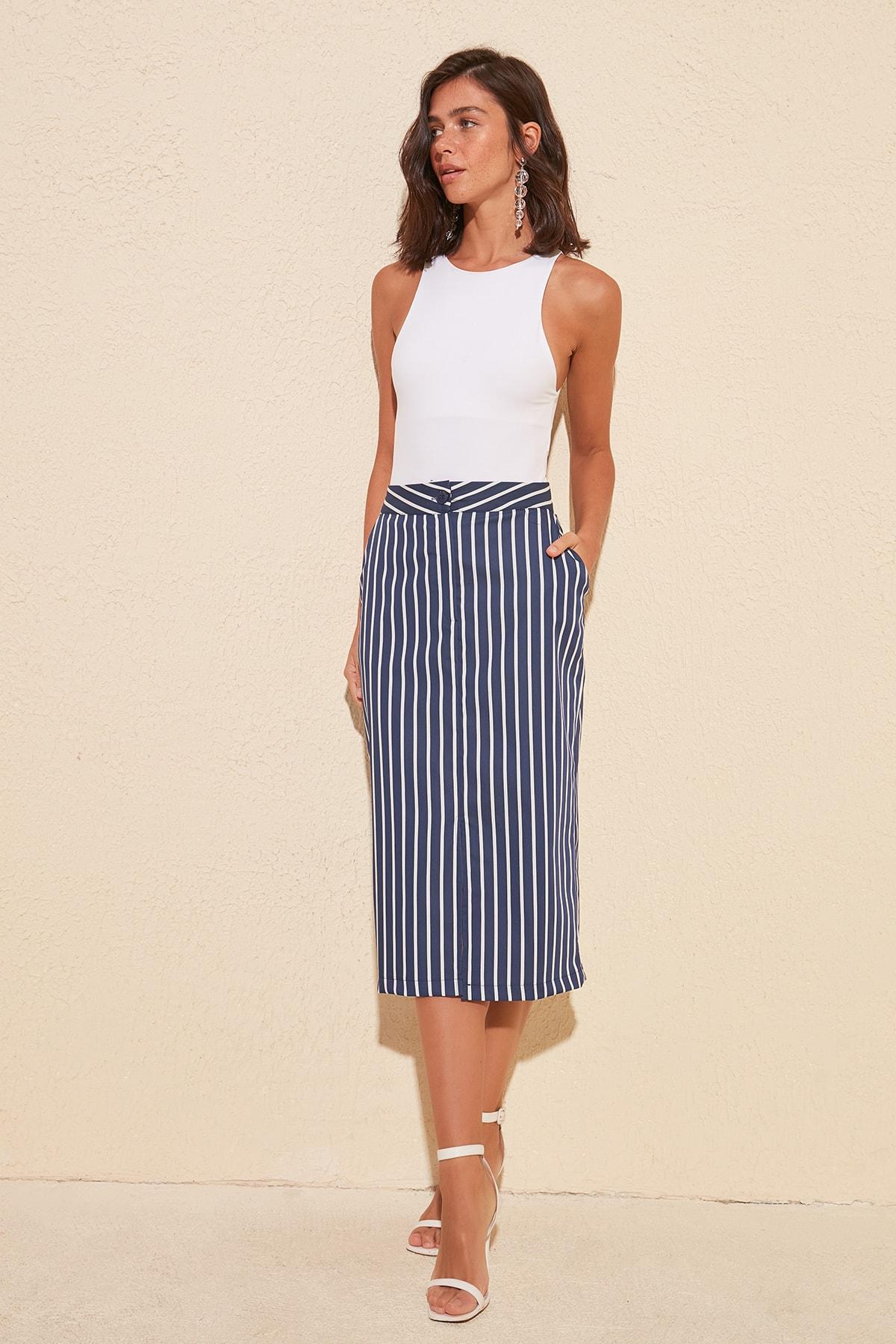 Trendyol Striped Skirt TWOSS20ET0087