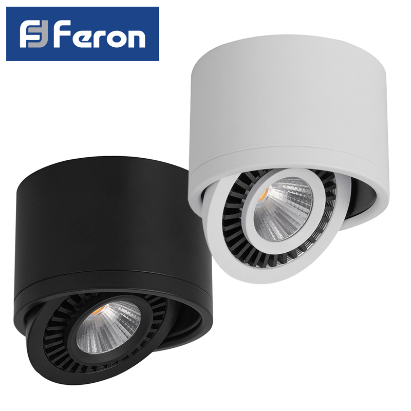 LED Downlight spot Feron AL523 patch 10W 15W 4000K White Black ledron lip0906 10w y 4000k black