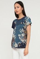 Finn Flare легкая женская футболка с цветочным принтом, коллекция лето-2020