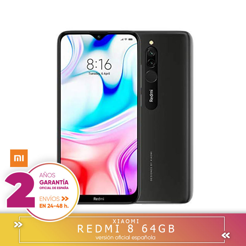 [Official Spanish Version] Xiaomi Redmi 8 Smartphone 4 Hard GB RAM 64 Hard GB ROM Snapdragon 439 10W De Fast Charge 5000 MAh