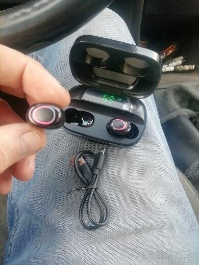 3500mAh LED Bluetooth Wireless Headphones Earphones Earbuds TWS Touch Control Sport Headset Noise Cancel Earphone Headphone S11|Bluetooth Earphones & Headphones|   - AliExpress