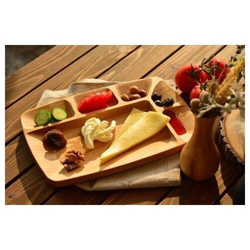 Assiette de service en bois enfants bébé assiettes alimentaires différentes formes design élégant présentation plat alimentation manger bol cuillère
