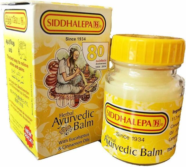Ayurvedic herbal balm pain relief Cold Flu Headaches Quick Relief- SIDDHALEPA