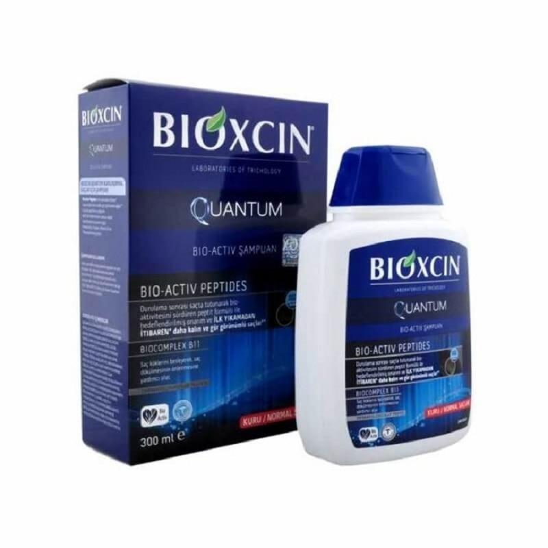 BIOXCIN Quantum Shampoo 300 ml Dry and Normal Hair Herbal Treatment Moisturizing Nourishing Oil Control Sebum Control