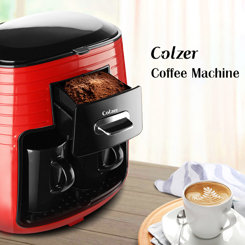 Colzer Coffee Machine With 2pcs Cups Concentrated American Double Cup Espresso Drip Machine For Coffee Maker Machine For Home 6
