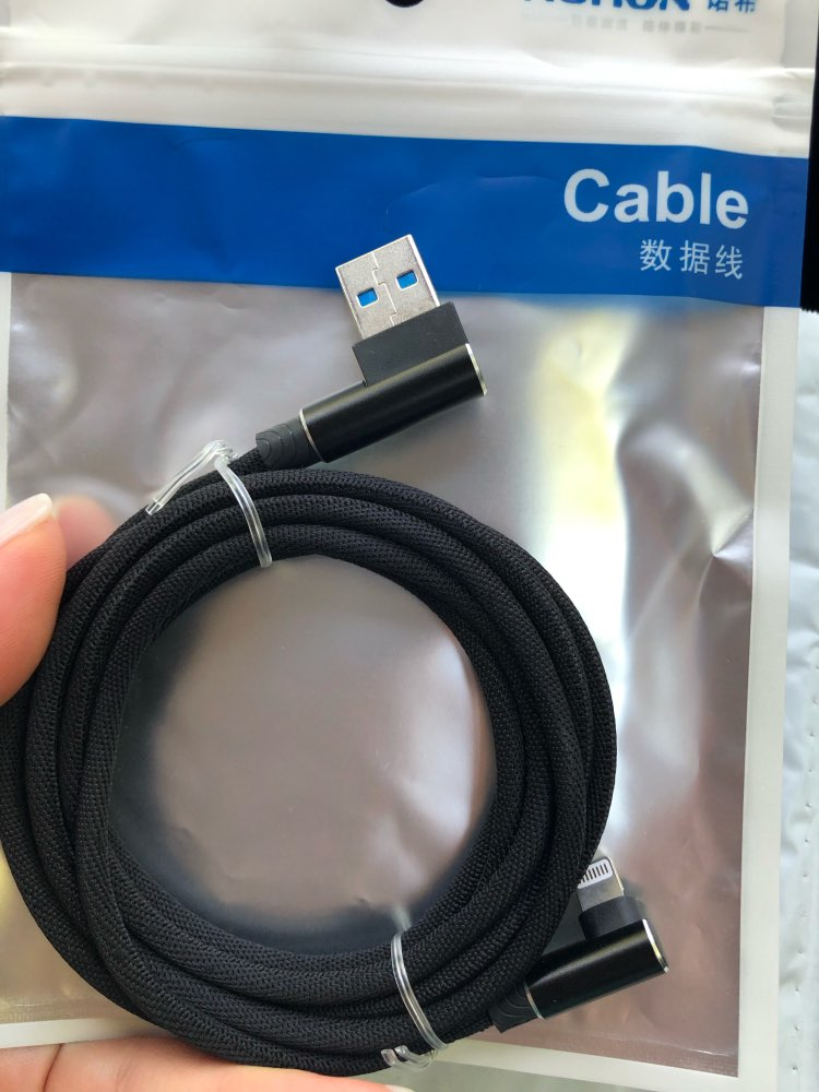 90 Degree USB Charger Data Cable For iPhone 6 S 6S 7 8 Plus 5 5S X XR XS Max On iPad Phone Cord Origin Long 1M 2M 3M Fast Charge-in Mobile Phone Cables from Cellphones & Telecommunications on AliExpress