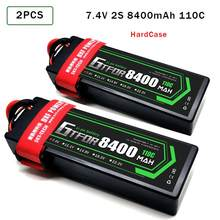 2PCS GTFDR Lipo Battery 2S 7.4V 5200mAh 6200mAh 6500mAh 7000mAh 8400mAh 50C 60C 100C 120C 110C 220C For Off-Road Car RC Parts