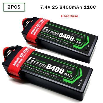 2PCS GTFDR Lipo Battery  2S 7.4V 5200mAh 6200mAh 6500mAh 7000mAh  8400mAh 50C 60C 100C 120C 110C 220C For Off-Road Car  RC Parts gtfdr 2pcs 2s lipo battery 7 4v 7 6v hv 8400mah 7000mah 6200ma 5200mah 140c 280c 100c 200c 60c 120c 4mm for 1 8 1 10 road rc car