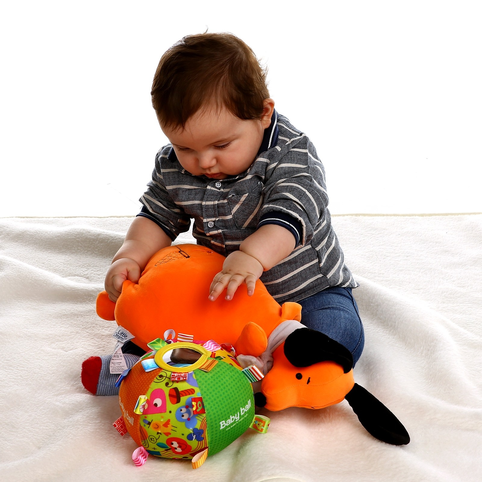 Ebebek Baby Toys Baby's First Ball Educational Toy- With Mirror