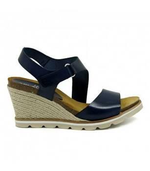 Sandal-Wedge-Velcro-Skin-Navy-Bio