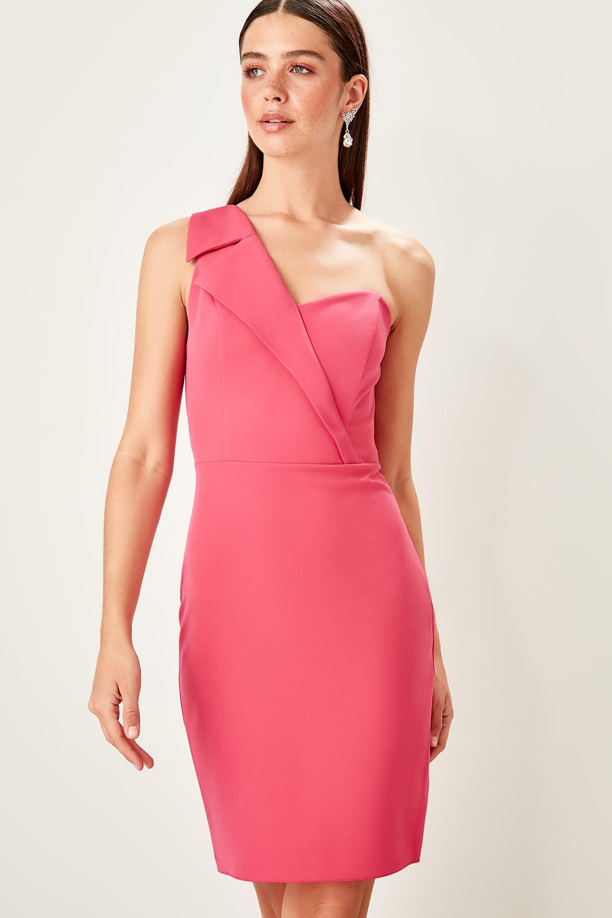 Trendyol Collar Detail Dress TPRSS19UT0112