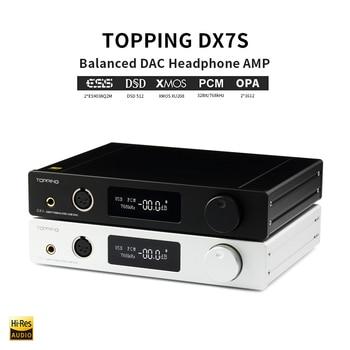 TOPPING DX7s Full Balanced DAC Headphone Amplifier USB DAC ES9038Q2M Amp XMOS XU208 OPA1612 DSD512 Optical Coaxial input