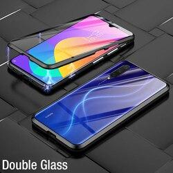 Xiaomi Mi 10T Lite 9T POCO X3 NFC F1 F2 Pro 용 Redmi K30 9A 8A 참고 9 8 7 9S 8T 덮개 용 양면 유리 자기 금속 케이스