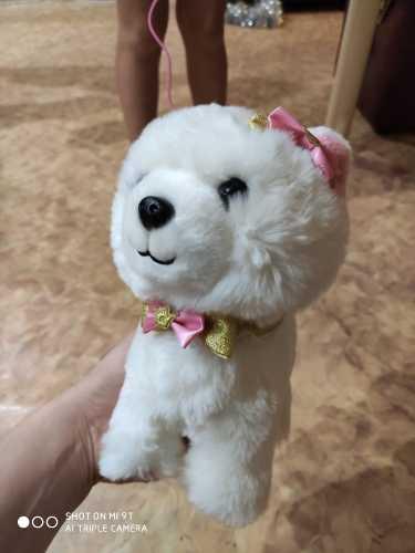 Робот-собачка с звуковым управлением, интерактивная электронная игрушка для собак, плюшевые игрушки для щенков, поводок для лай, плюшевые игрушки для детей, подарки на день рождения