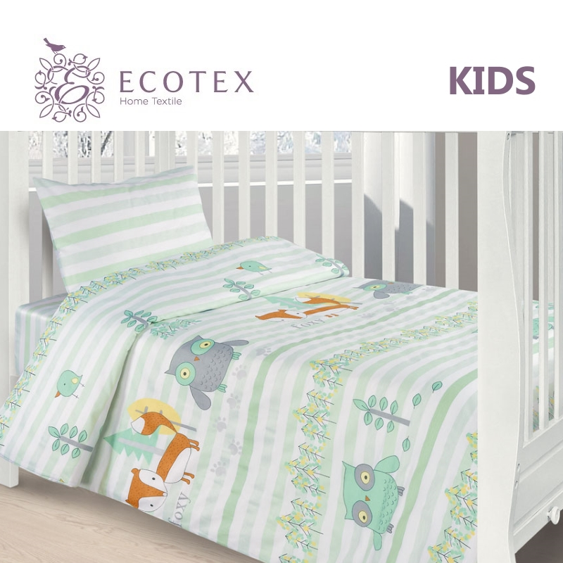 Baby bedding Forest animals,100% Cotton.Beautiful,Bedding Set from Russia, excellent quality. Produced by the company Ecotex american baby company crib starter set
