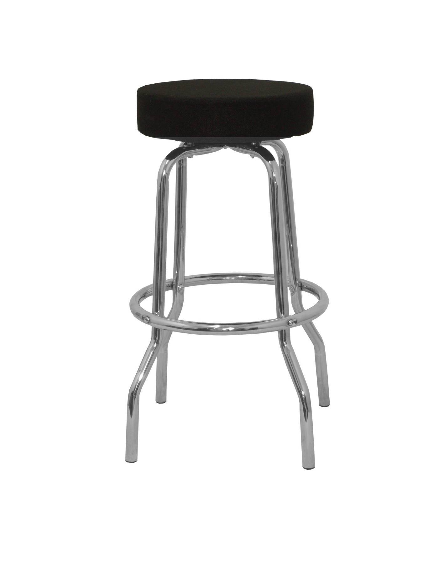 Stool's multipurpose and detachable swivel 4 topsy underwire foot pegs Chrome up seat upholstered in ARAN tissue color|Stools & Ottomans| |  - title=