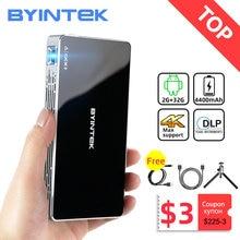 BYINTEK-proyector portátil inteligente P10, dispositivo con Android, Wifi, Mini bolsillo, TV LED, DLP, móvil, 1080P, para cine en 4K