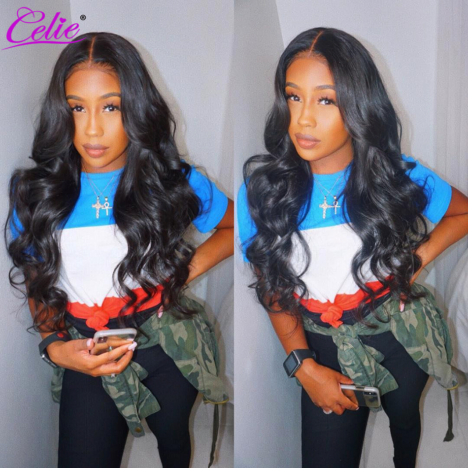 Image 4 - Celie 13x6 Body Wave Wig Lace Front Human Hair Wigs  250 Density Remy Brazilian 360 Lace Frontal Wig Pre Plucked With Baby Hair-in Human Hair Lace Wigs from Hair Extensions & Wigs