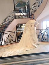 Вечерние платья Русалка 2020 для женщин с длинным рукавом Аппликация