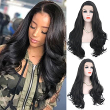 Charisma Long Body Wave Synthetic Lace Front Wig Black Color Wigs