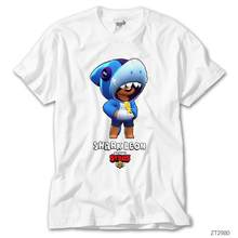 Brawl Stars Shark Leon White T-Shirt()