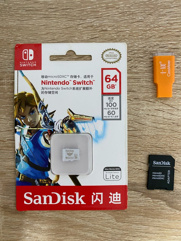 SanDisk New style 128GB 64GB 256GB micro SDXC UHS-I memory cards for Nintendo Switch TF card  with adapter