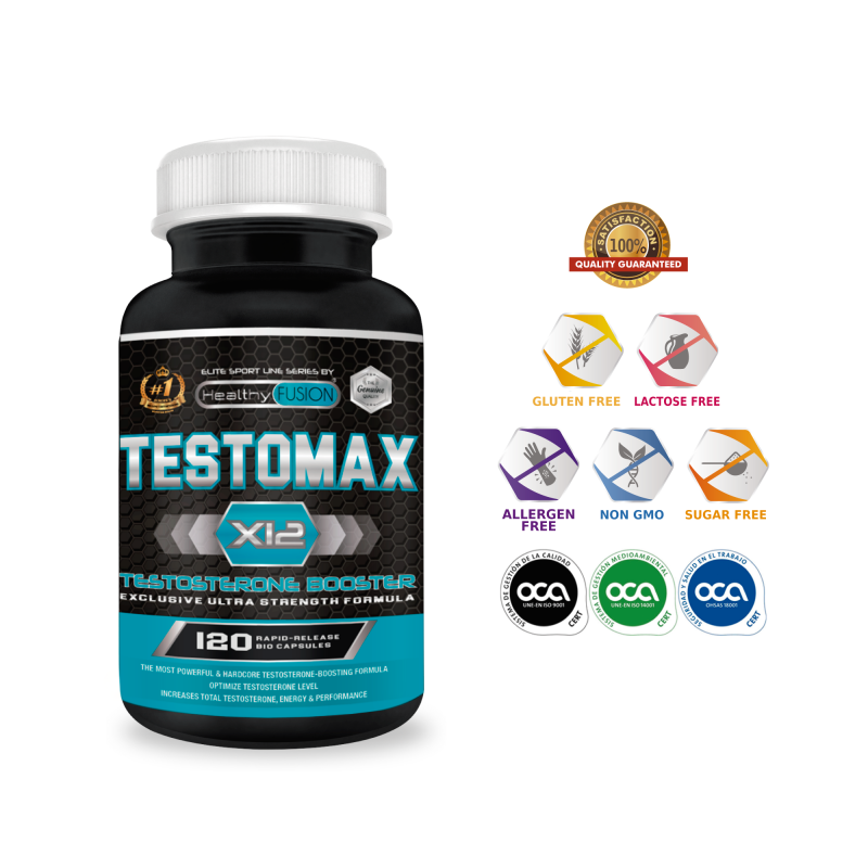TESTOMAX X12-Booster Testosterone-Effective Sex Enhancer Increases The Mass Muscle Does The Power And Performance?