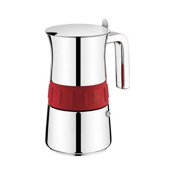 Ev Aletleri'ten Kahve Makineleri'de Italyan cezve sutyen Elegance kırmızı (10 bardak) title=