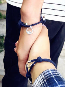 Couple Bracelet Jewelry Braided Distance Attract-Lover 2pcs/Set