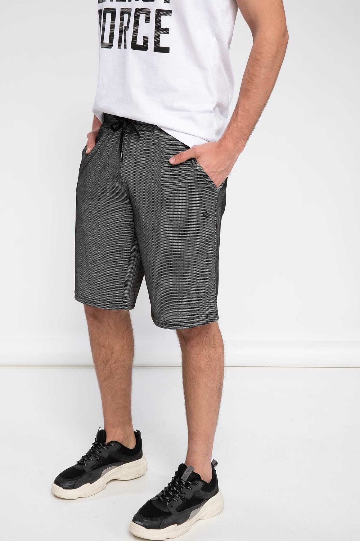 DeFacto Fashion Summer Man Casual Drawstring Waist Pant Male Sport For Men's Striped Sweatpants Bottoms - K1031AZ19SP